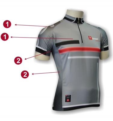 Camisola Ciclismo X3 Descrição - Frente